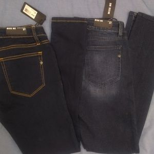 Two pairs of New Miss Me jeans 27